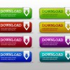 8 Colorfuls Download Buttons Template – Free PSD