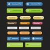 Colorful Buttons Free PSD File