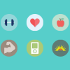The fitlat icon set – 10 Free flat icon set