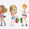 Shopping Women Vector Set