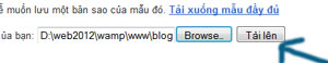 cai dat giao dien cho blogger