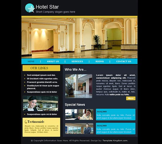 15 Best Free Hotel Templates