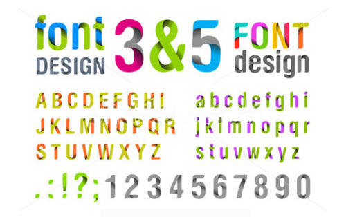 font-design-ribbon-alphabet