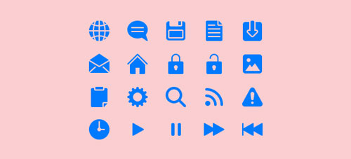 Free Icon Set: Blue Web UI Icons