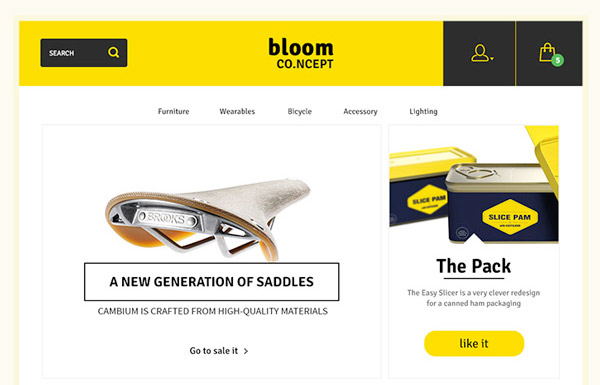 Free Bloom Ecommerce Template Psd