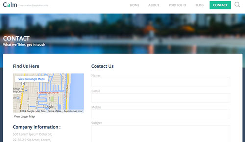 Calm-Free-Html5-Template-contact