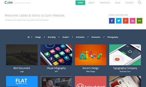 Calm-Free-Html5-Template