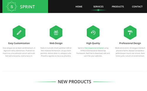 Sprint-Free-Html5-Template-services